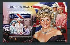 Solomon Islands 2015 MNH Princess Diana 1v S/S Queen Elizabeth II Prince William