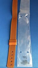 Authentic Hermes BROWN/ORANGE Leather Watch Band DOUBLE WRAP 24mm NEW