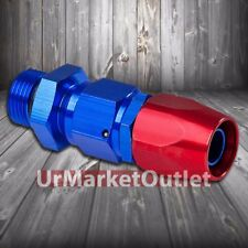 Red/Blue Straight Swivel Oil/Fuel/Fluid Line Hose End 10AN T2 Fitting Adapter
