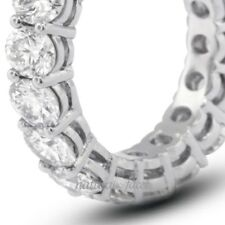 1.75ct G/SI3/VG Round Certify Diamonds 14k White Gold Basket Eternity Band 2.5mm