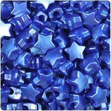 50 Cobalt Blue Pearl Star Shape 13mm Pony Beads Top Quality Pony Beads *3 for 2*