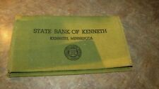 Vintage State Bank of Kenneth Minnesota Advertising Canvas Paper Money Pouch Bag