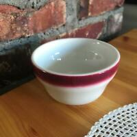 Homer Laughlin Vintage Restaurant Maroon Airbrushed Soup Cup Diner Retro
