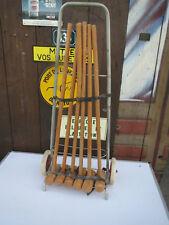 ancien chariot ancien jeu de criquet bois croquet enfant vieux jouet