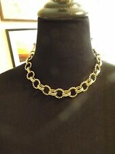 """Heidi daus toggle necklace 19 1/2 inches and 1 inch wide """"chunky"""""""
