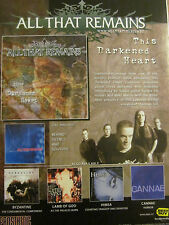 All That Remains, This Darkened Heart, Full Page Promotional Ad