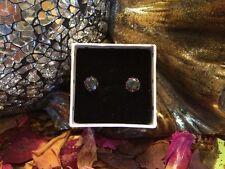 Pretty natural Rainbow Mystic Topaz 5mm surgical steel stud earrings 👑