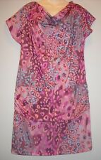 NW ISLE LEOPARD SOFT KNIT ROUCHED DRESS COVERUP TUNIC L
