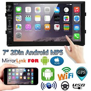 """7"""" 2 Din Android8.1 Car Stereo MP5 Player FM Radio Support GPS WiFi BT Head Unit"""
