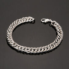 Charm Men`s Bracelet Wristband Chain Bangle Stainless Steel Plated Gold Silver
