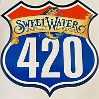 Sweetwater Brewing Company 420 Highway Sign w/ trout Sticker Craft Beer Brewery!