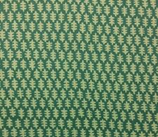 "STROHEIM EDIE JADE GREEN FLORAL LEAVES BOTANICAL LINEN FABRIC BY THE YARD 54""W"