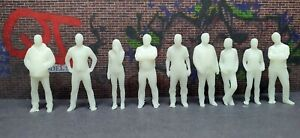 "1:64 Scale figures (unpainted) - Set of 9 - ""Bystanders"""