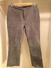 XOXO Genuine Leather Grey Reptile Pants Size 10