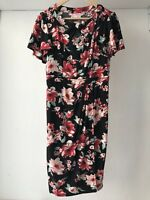 Leona Edmiston Floral Stretch Dress, AU Size 10 Spring Races Wedding