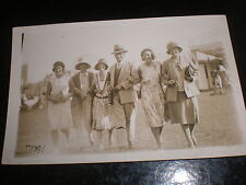 Old postcard family walking group Margate c1930s