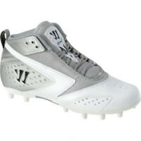 NEW Mens Warrior Burn 2nd Degree Lacrosse Cleats White / Silver Size 12 M