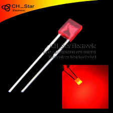 100pcs 2x3x4mm Square LED Diodes Diffused Red-Red DIP Rectangle Rectangular