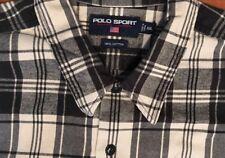 Polo Sport Ralph Lauren Men's L/s Black and white plaid check Shirt XXl