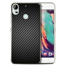 STUFF4 Case/Cover for HTC Desire 10 Pro/Carbon Fibre Effect/Pattern/Grey