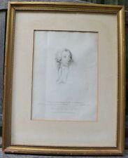 Vintage After Thomas Lawrence Engravign Portrait by W. Evans and H. Meyer-Framed