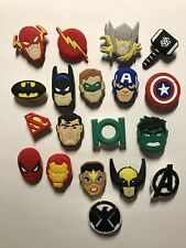 17 Schuh Pin - Shoe Charms - Anstecker für Crocs - Clogs - Marvel Superheroes
