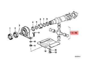 Genuine BMW 02 E12 E24 Repair Kit Driveshaft U Joint Propeller OEM 26117518304