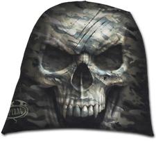 Spiral Direct - CAMO SKULL Beanie, Hat, gothic skulls, bones, Army, BLAIZE MERCH