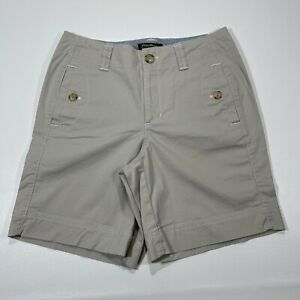 Eddie Bauer Shorts Womens Size 6 Tan Mercer Fit Cotton Shorts
