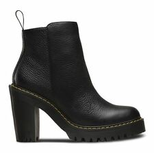 Dr Martens Magdalena - Black Aunt Sally Leather Womens BOOTS 6 UK