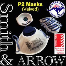 20x P2 Face Mask Safety Disposable Valved Valve Dust Painting Welding Respirator