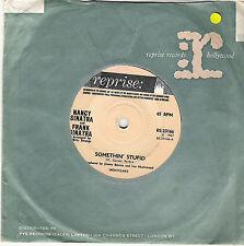 NANCY SINATRA & FRANK SINATRA SOMETHIN' STUPID UK REPRISE  60s POP