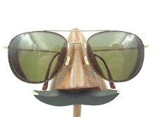 Vintage Safilo Elasta 3767 Lz3 Large Gold Tortoise Pilot Sunglasses Frames Italy