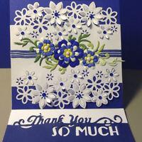 Flower Metal Cutting Dies Stencil Silver Scrapbooking Embossing Album Card Craft