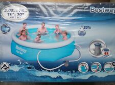 Bestway 10FT FAST SET POOL & Flowclear Pool Filter Pump - BW58381 USED ONCE