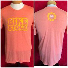New Bike Stock Vintage Style On Bikes Shirt Size Medium Yellow on Salmon cycling