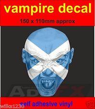1 vampire Scottish Scotland flag sticker door laptop car van dub halloween decal