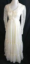 vtg GUNNE SAX ROMANTIC RENAISSANCE BRIDAL COLLECTION lace boho maxi dress