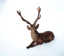 Franz Bergmann Vienna Austria Cold Painted Bronze Reindeer Deer stampd Geschutzt