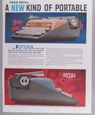 Royal Futura Portable Typewriter PRINT AD - 1958