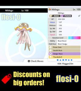 6IV Ultra Shiny Nihilego Pokemon Sword and Shield (Square Shiny)