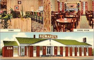 Linen Postcard Howard's Cafe in Rock Springs, Wyoming~138483