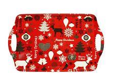 HAAC Tablett mit Weihnachtsmotiven Farbe rot oder weiß 38 cm x 23 cm Weihnacht