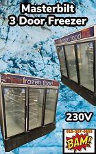 Freezer 3 Glass Doors Master-Bilt Model BLG-74HDA