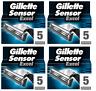 NEW Gillette Sensor Excel Refill Razor Blades - 20 Cartridges (4 x 5 Packs)