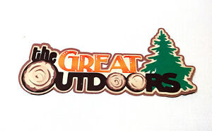 The Great Outdoors Title  paper piecing Premade Scrapbook Pages