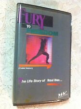 FURY TO  FREEDOM, THE LIFE STORY OF RAUL RIES, VHS, CLAMSHELL,1988 CABLE VERSION