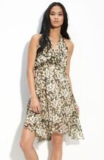 Drifting Lilies Dress Silk Floral Halter Sundress Leifsdottir Anthropologie Sz 6
