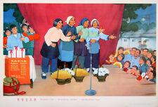Original Vintage Poster Chinese Cultural Revolution Socialism Is Good 1974