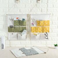 7-Grid Hanging Storage Bag Organizer Container Decor Pocket Pouch Door Wall US